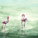 Flamingos in The Camargue 02 by Goodaboom