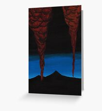 Oil Fields painting Greeting Card