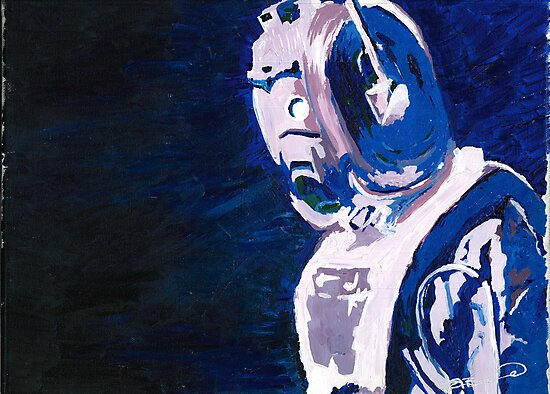 Excellent Leader - Cyberman Painting by B4DW0LF