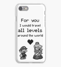 Pixel Mario and Peach iPhone Case/Skin