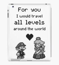 Pixel Mario and Peach iPad Case/Skin