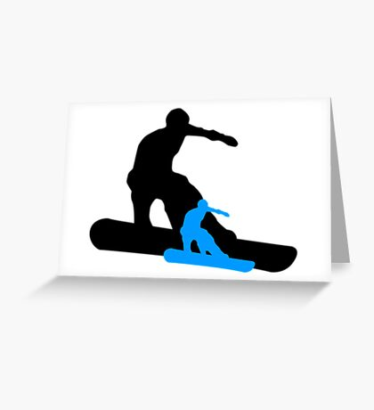 snowboard shadowstance Greeting Card