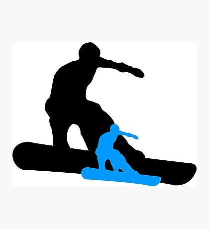 snowboard shadowstance Photographic Print