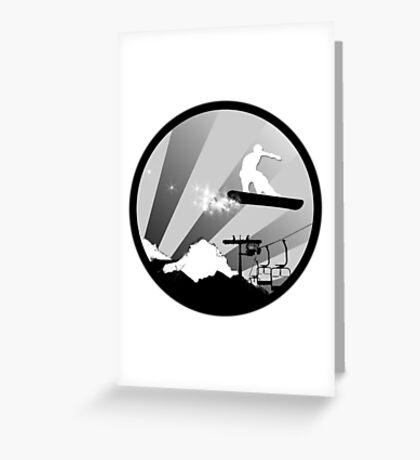 snowboard : powder trail Greeting Card