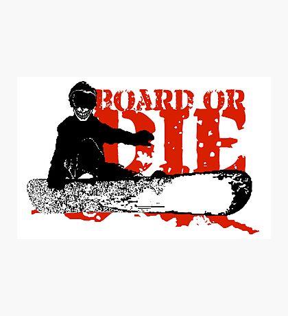 skeleboarder board or die Photographic Print