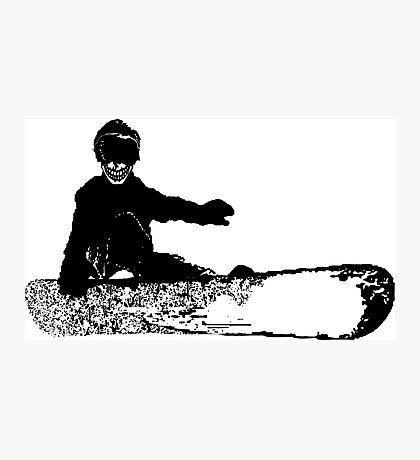 skeleboarder : board or die Photographic Print