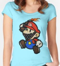 Anarchist Mario Women's Fitted Scoop T-Shirt