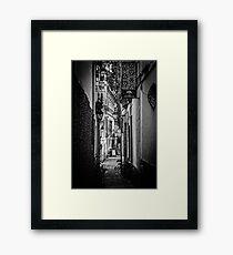 Streets of Seville BW Framed Print