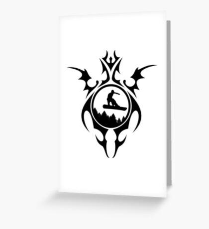 tribal snowboarder Greeting Card