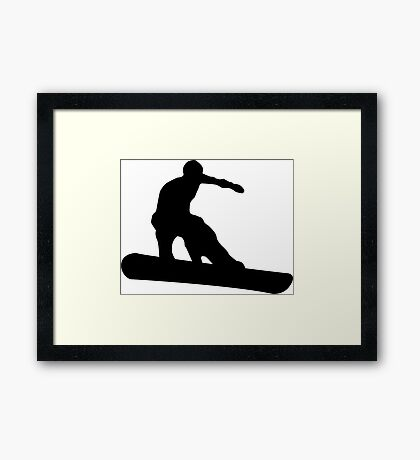 snowboard silhouettes Framed Print