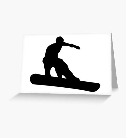 snowboard silhouettes Greeting Card