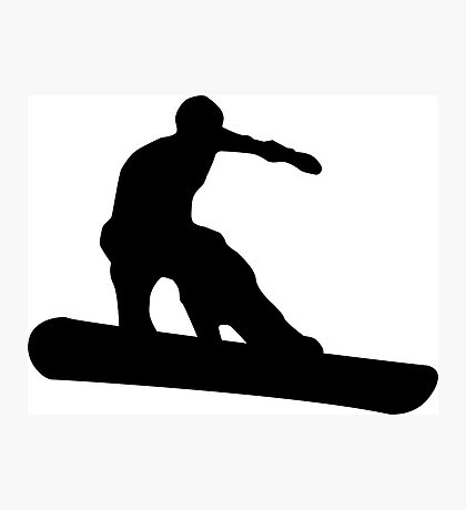snowboard silhouettes Photographic Print