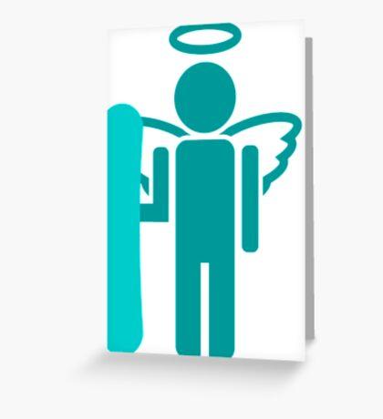 snowboard : board angel  Greeting Card
