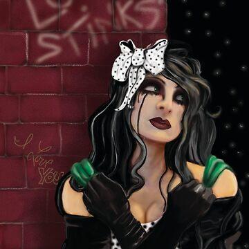 Love Stinks Gothic Girl by LetyLeru