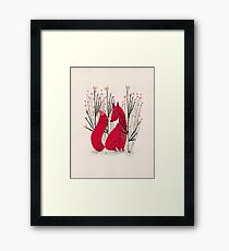 Fox in Shrub Framed Print
