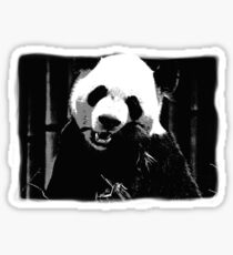 Cute Giant Panda Bear with tasty Bamboo Leaves Sticker
