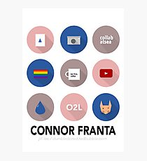 Connor Franta Infographic Photographic Print