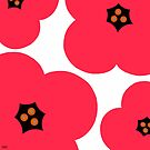 poppies red by hennydesigns