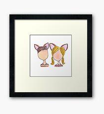 Bambi and Faline Framed Print