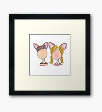 Bambi and Faline Framed Print