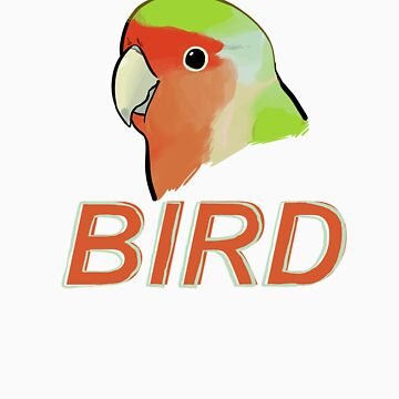 BIRD - Rosy-faced Lovebird by Sadgi