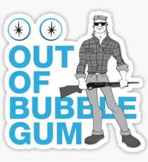 Out of Gum Sticker