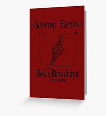 Schrute Farms B&B Greeting Card