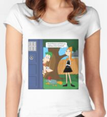 Phineas & Ferb Who Women's Fitted Scoop T-Shirt
