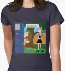 Phineas & Ferb Who Womens Fitted T-Shirt