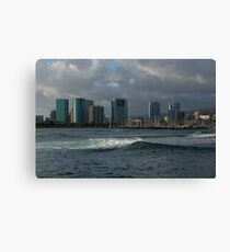 Sailing Into Honolulu, Hawaii Canvas Print