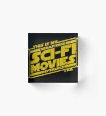 Sci-fi Movie Tee Acrylic Block