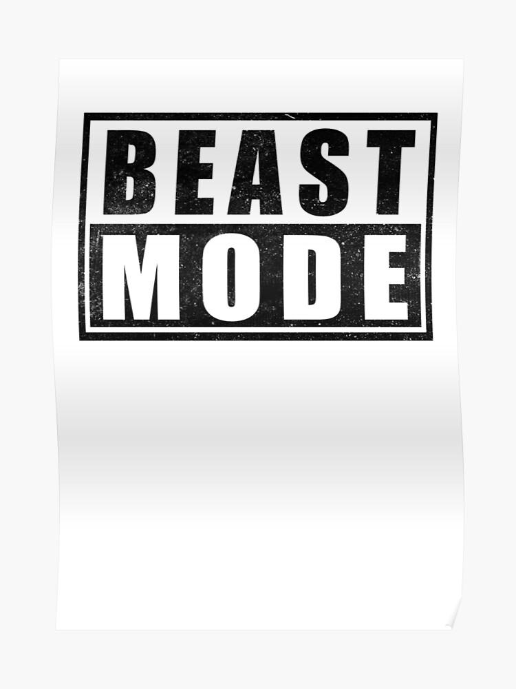 Beast Mode Bodybuilding Gym Sports Motivation Poster