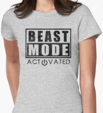 Beast Mode Bodybuilding Gym Sports Motivation Women's Fitted T-Shirt