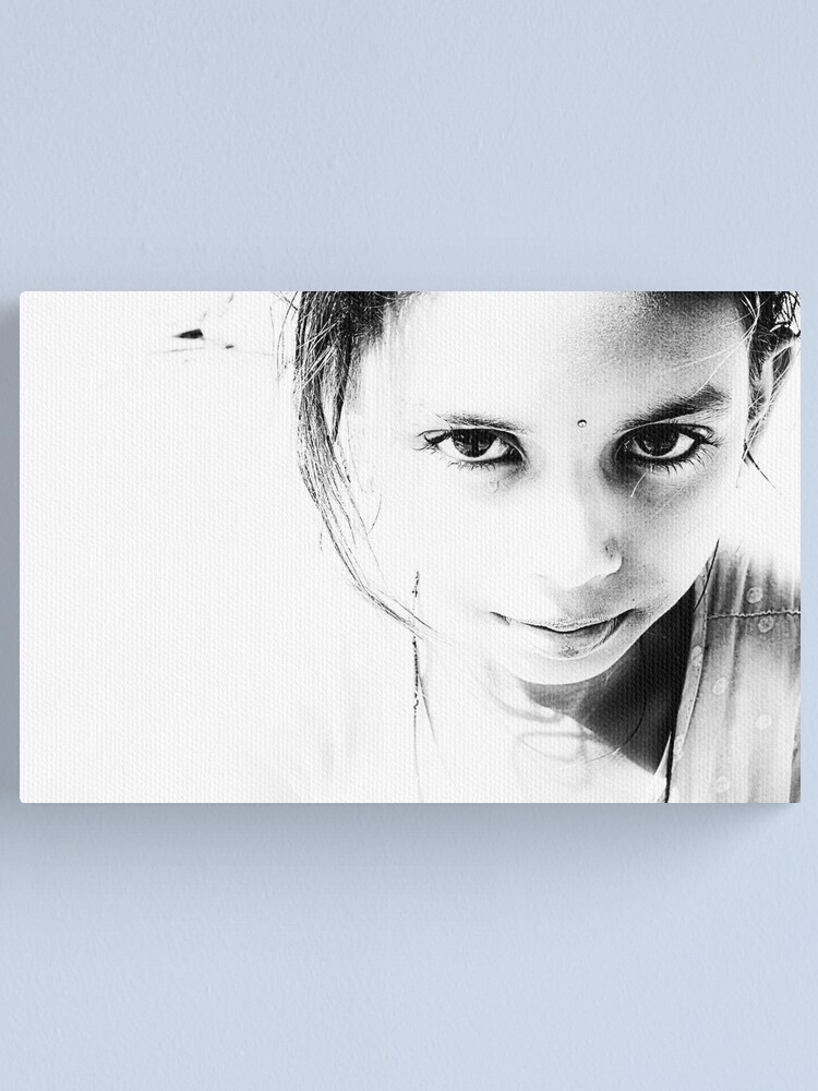 Alternate view of one tear too many Canvas Print