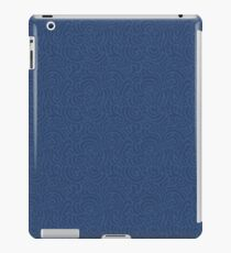 Blue ornamental pattern iPad Case/Skin