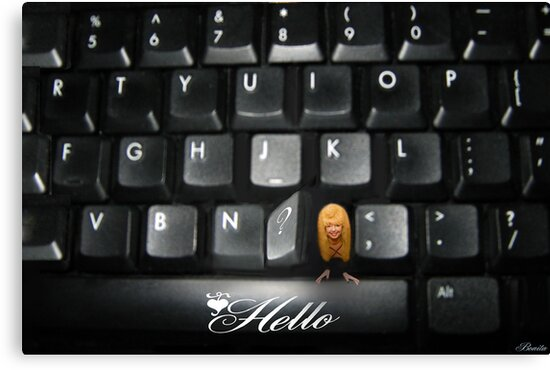 ❤‿❤ SAYING HELLO TO ALL FROM MY COMPUTER KEYBOARD❤‿❤  by ✿✿ Bonita ✿✿ ђєℓℓσ