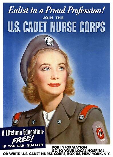 Join The U.S. Cadet Nurse Corps -- WW2 by warishellstore