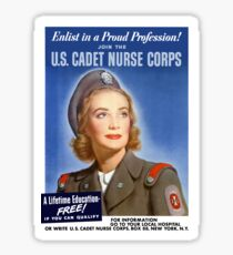Join The U.S. Cadet Nurse Corps -- WW2 Sticker