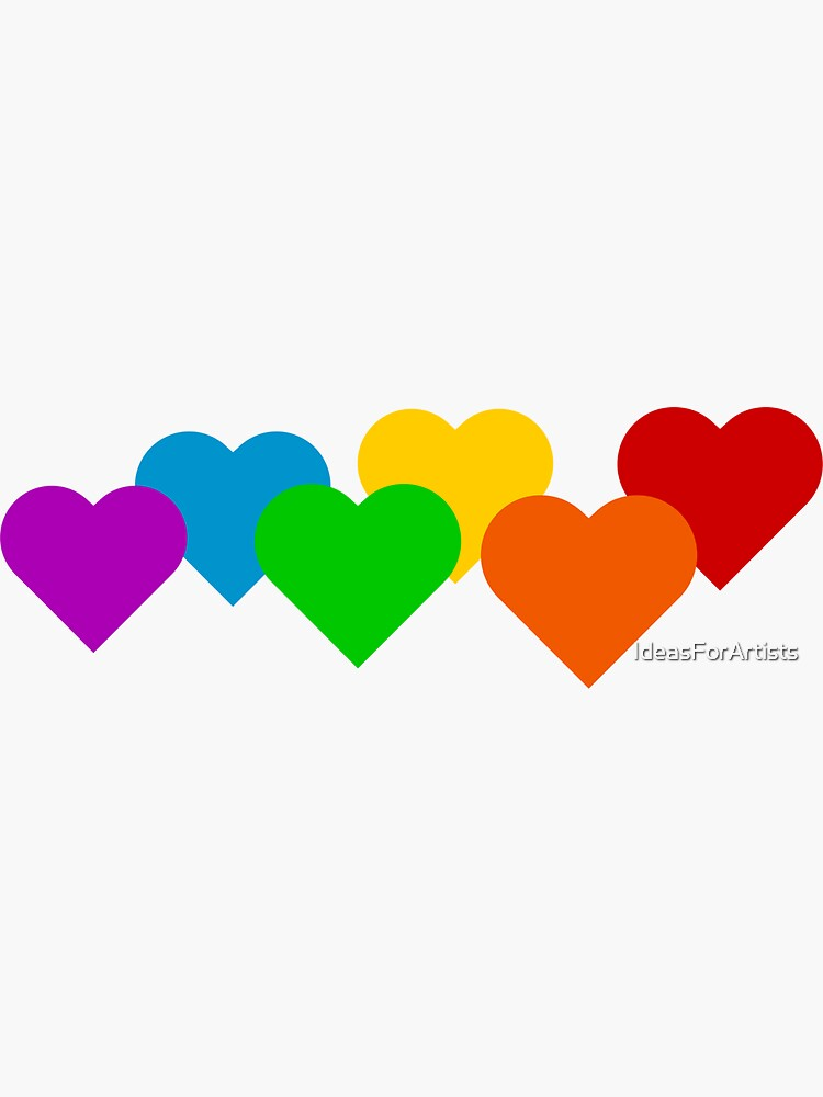 Rainbow Hearts! by IdeasForArtists