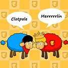 Sheep Merlin  and Arthur... Merrrrrrlin by sirwatson