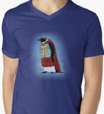 The Majestic Emperor Penguin Men's V-Neck T-Shirt