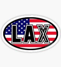 Lacrosse LAX Oval America Sticker