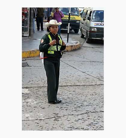 Peruvian Policewoman Photographic Print
