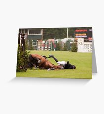 When good jumps go BAD! 6/8 Greeting Card
