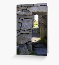 Entrance to Blackhouse ruins Greeting Card