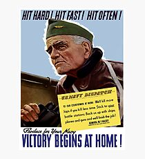 Produce For Your Navy - Victory Begins At Home Photographic Print