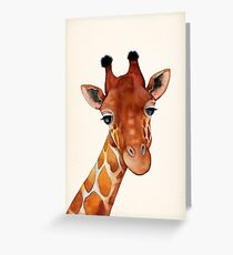 Giraffe Aquarell Grußkarte