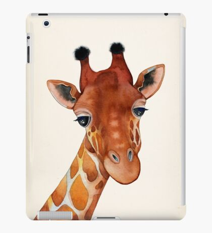 Giraffe Watercolor iPad Case/Skin