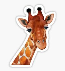 Giraffe Watercolor Sticker
