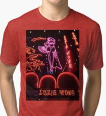 Suzie Wong's bar on Soi Cowboy (vertical) Tri-blend T-Shirt